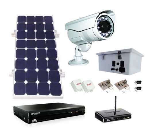 all weather solar video surveillance kit sun in one. Black Bedroom Furniture Sets. Home Design Ideas