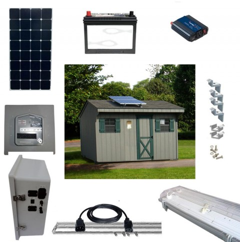Solar Shed Lighting and Power Kits 1