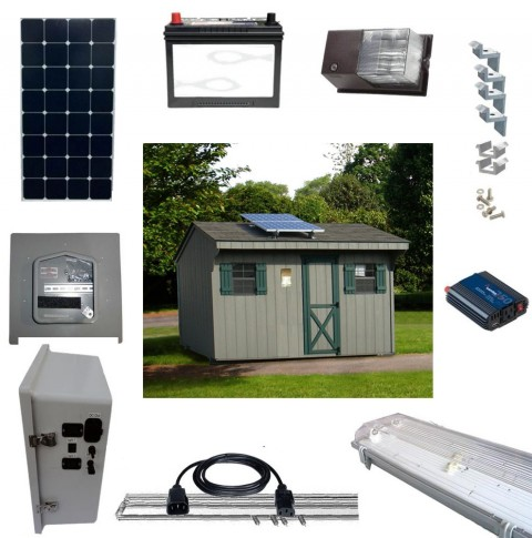 Solar Shed Lighting and Power Kits 2
