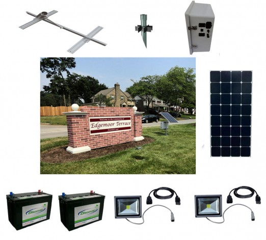 Solar Sign Lighting Kit 8
