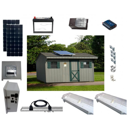 Solar Shed Lighting and Power Kit 3