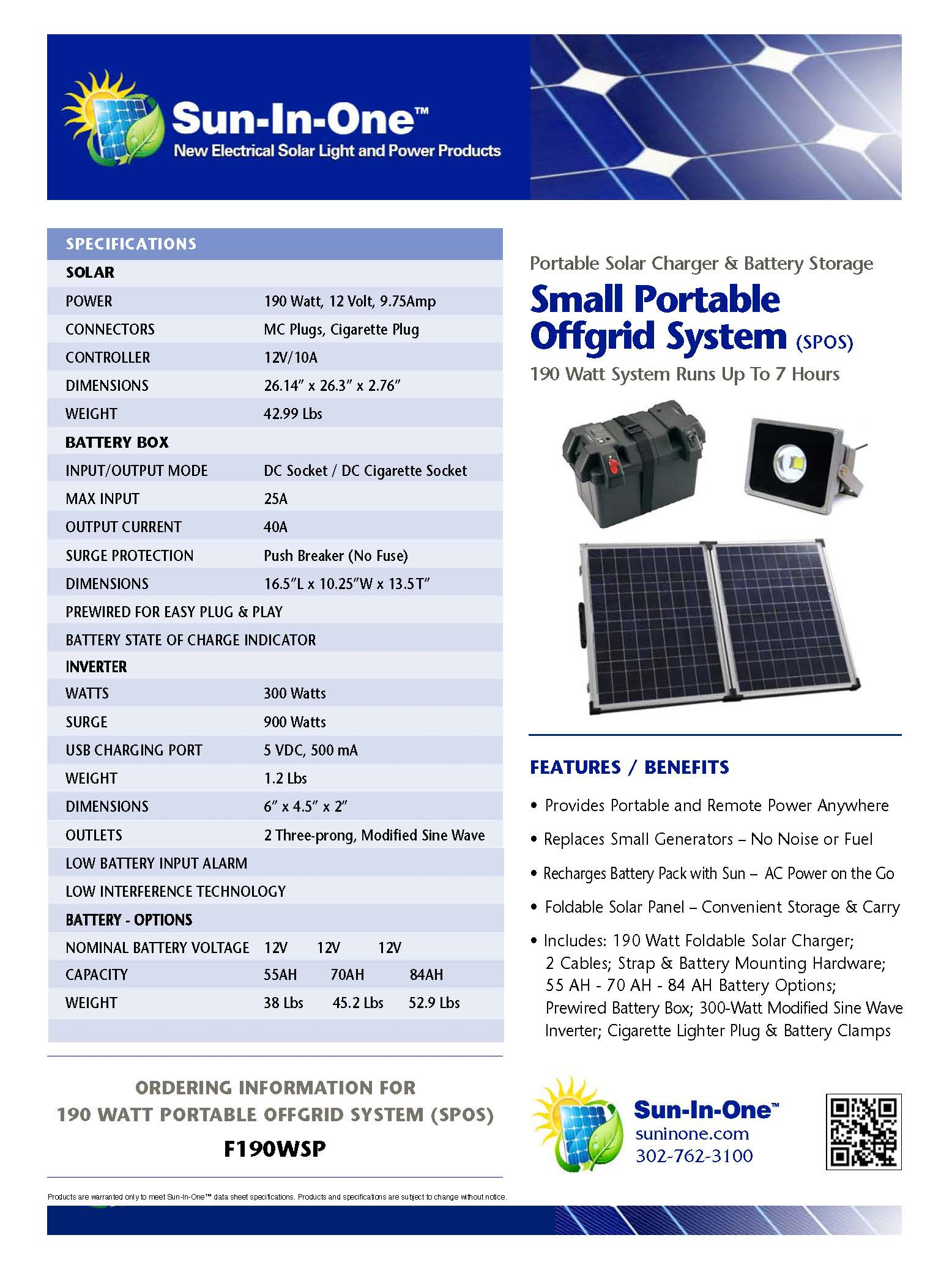 190 Watt Off Grid Solar System