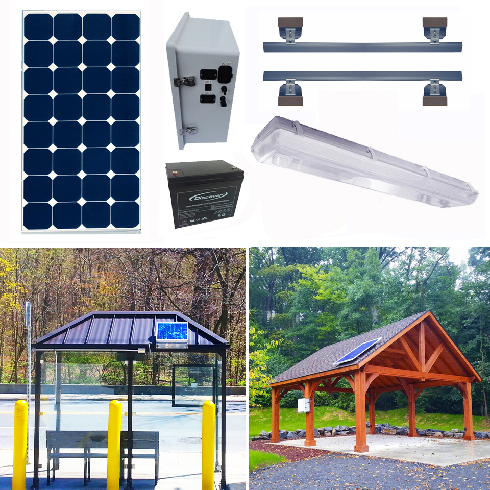 Solar Bus Shelter Kits 1&2