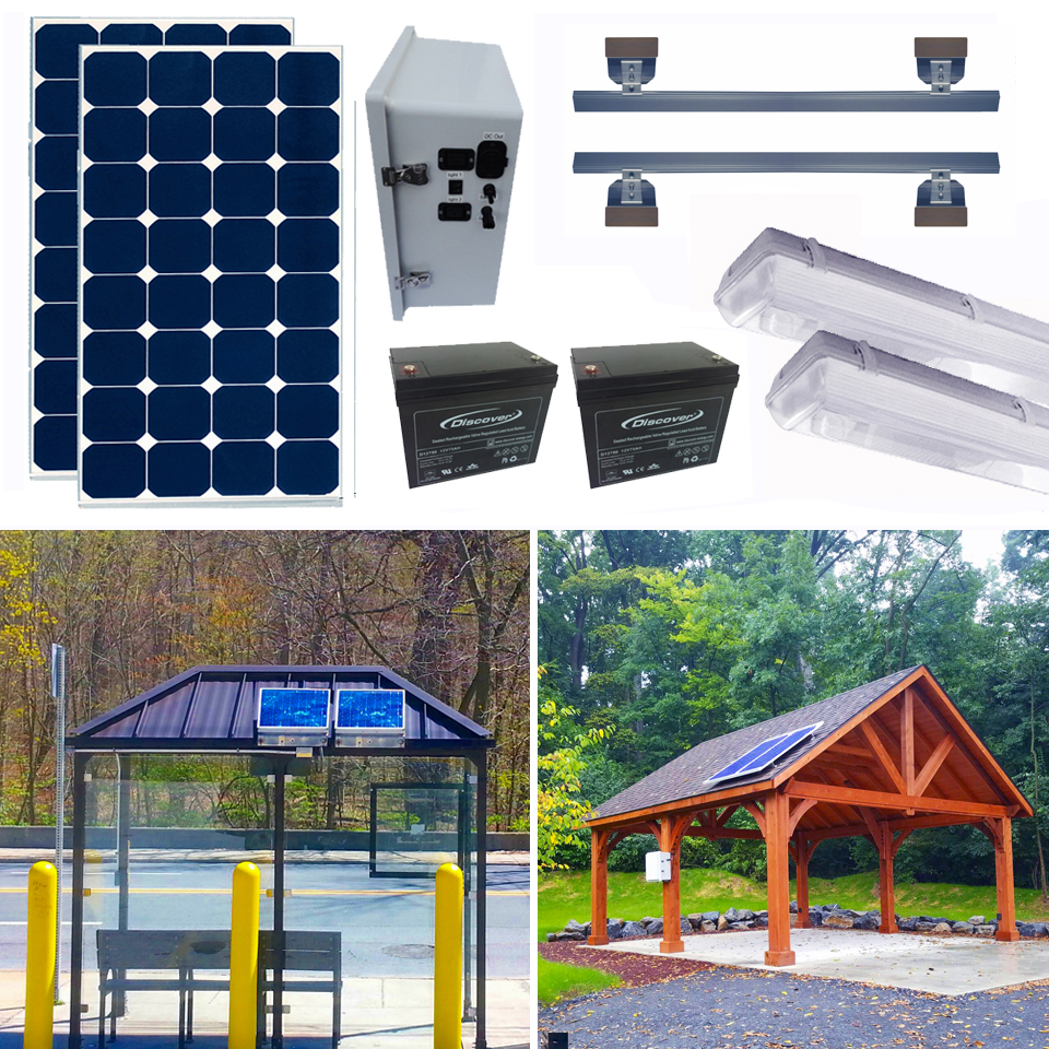 Solar Bus Shelter Kits 3&4