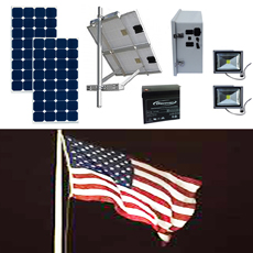 Solar Flag Pole Lighting Kit 1
