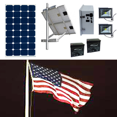 Solar Flag Pole Lighting Kit 2