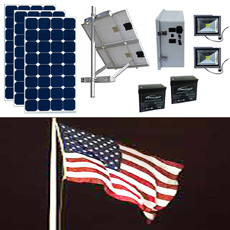 Solar Flag Pole LED Lighting Kits