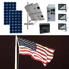 Solar Flag Pole Lighting Kit 7