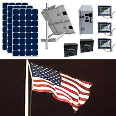 Solar Flag Pole Lighting Kit 8