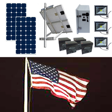 Solar Flag Pole Lighting Kit 9