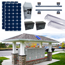 Solar Mail Box Shelter Lighting Kits