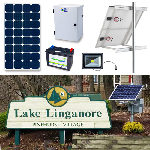 Solar Sign Lighting Kit Exterior 1-sided