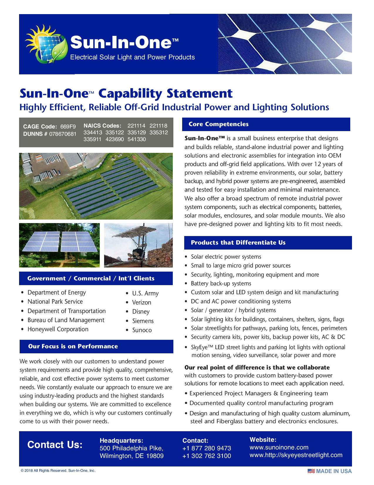 SIO Capabilities Statement 1